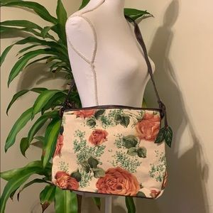 Canvas antique rose crossbody bag